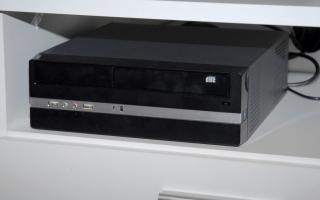 MediaCenter PC mit Intel Atom im Aufbau