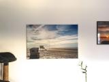 Die fertige Leinwand an meiner Wohnzimmerwand