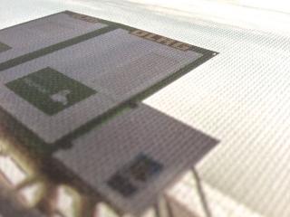 Leinwand von leinwandfoto.de im Detail : Struktur der Leinwandoberfläche