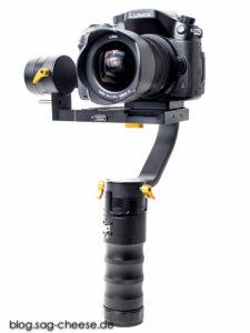 TRD Ikan Beholder DS1, bestückt mit der Panasonic GH4 und dem Panasonic 7-14mm f4