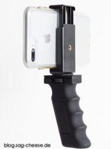 iPhone 7 Plus mit Handgriff