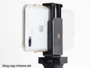 iPhone 7 Plus mit Halter