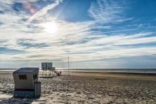 Sonnenuntergang am Strand von Langeoog
